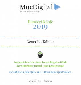 Urkunde für Benedikt Köhler