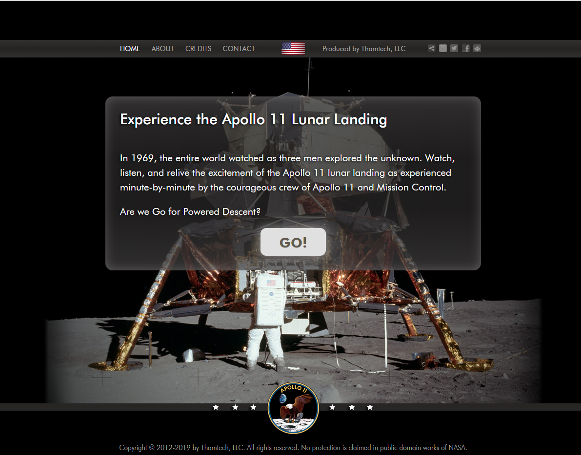 Apollo 11 way to the moon, space visualization, data software